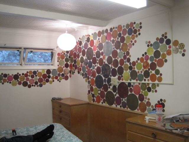 Ninety minutes later, admire the colorful wall you've created.